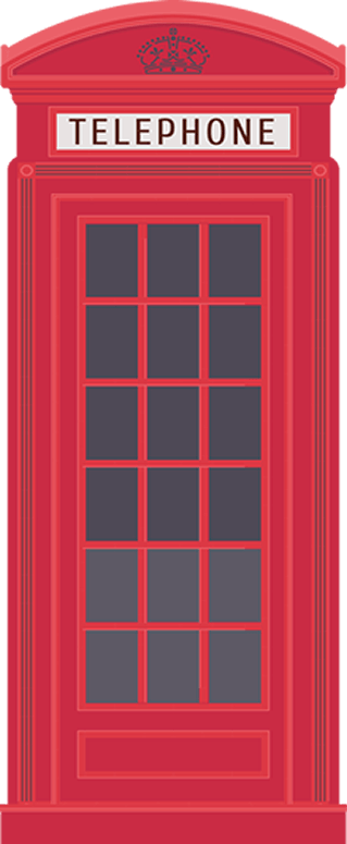 Red Telephone Box Vector Style